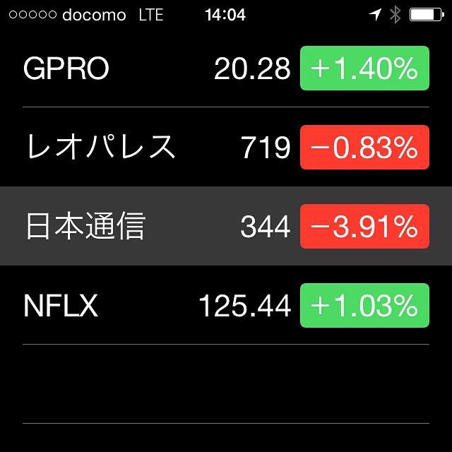 米国株はステイ、日本株は全体に下げてる。