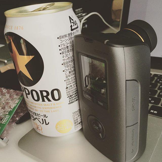 Brinnoのタイムラプス専用カメラが家に届いた。ビール缶よりも小さい!これなら海外にも持っていける。あと2個くらい購入してもよさそう。